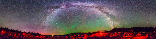ADY200323S © Stocktrek Images, Inc. Panorama of Milky Way above the Table Mountain Star Party in Washington state.