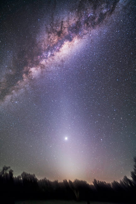 ADY200334S © Stocktrek Images, Inc. Venus in zodiacal light.