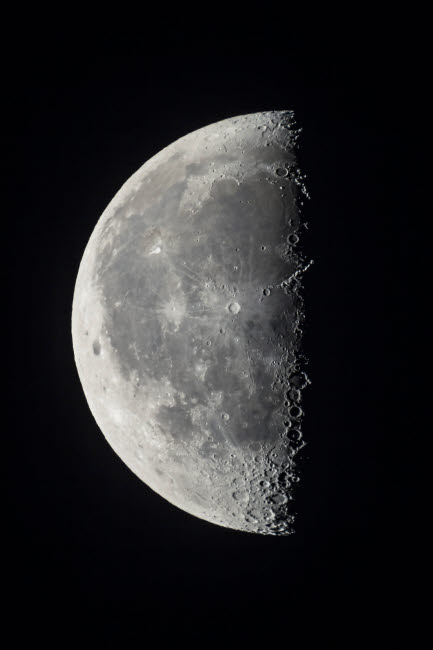 ADY200347S © Stocktrek Images, Inc. The 21-day-old waning last quarter moon.