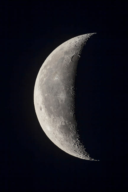 ADY200349S © Stocktrek Images, Inc. The 23-day-old waning crescent moon.
