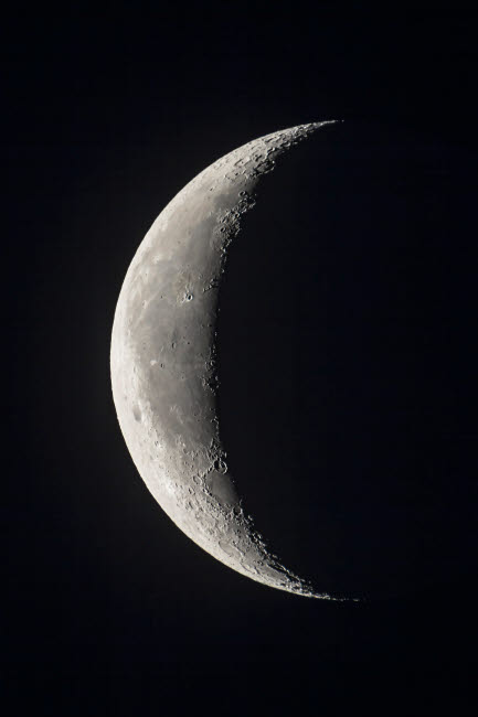 ADY200350S © Stocktrek Images, Inc. The 24-day-old waning crescent moon.