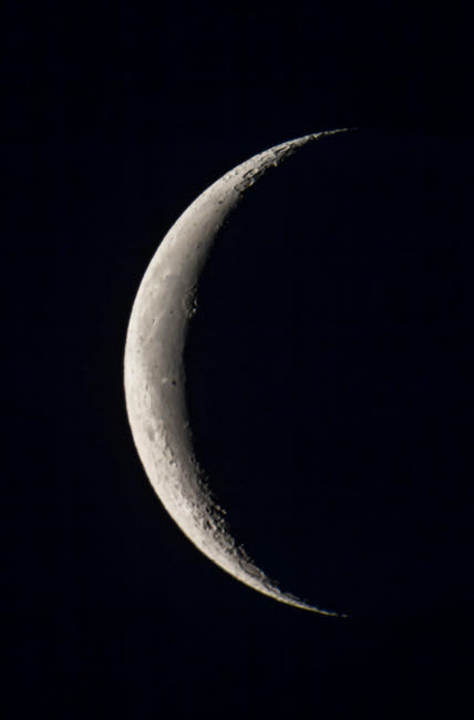 ADY200351S © Stocktrek Images, Inc. The 25-day-old waning crescent moon.