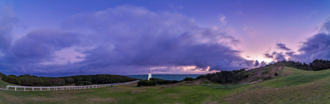 ADY200386S © Stocktrek Images, Inc. Evening twilight at Cape Otway Lighthouse on the Great Ocean Road, Victoria, Australia.