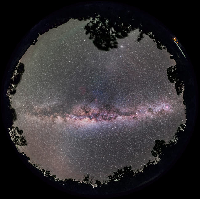 ADY200391S © Stocktrek Images, Inc. Fish-eye panorama of the Milky Way with galactic center overhead.