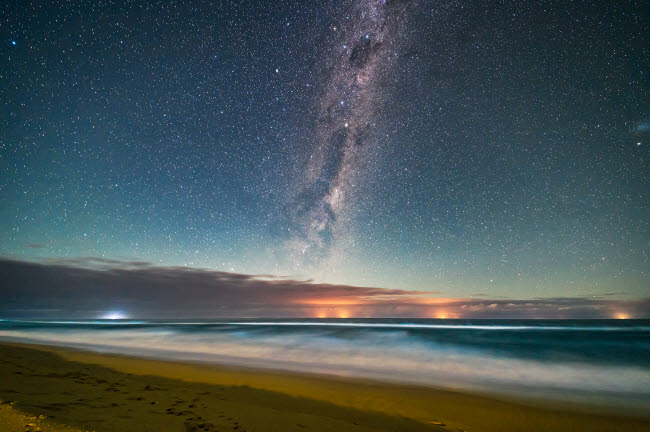 ADY200401S © Stocktrek Images, Inc. Milky Way above the Tasman Sea, Victoria, Australia.