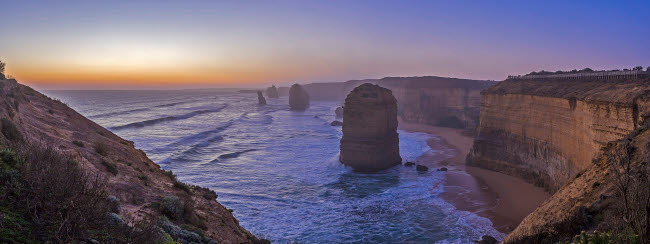 ADY200407S © Stocktrek Images, Inc. Evening sky looking west at a Twelve Apostles viewpoint near Port Campbell, Victoria.