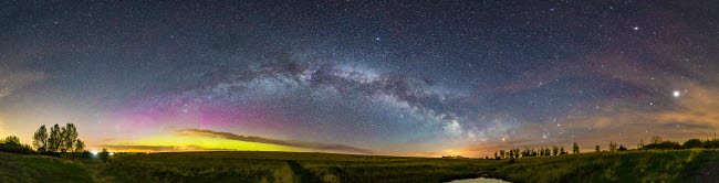 ADY200434S © Stocktrek Images, Inc. The arch of the summer Milky Way across a Canadian prairie sky on a spring night.