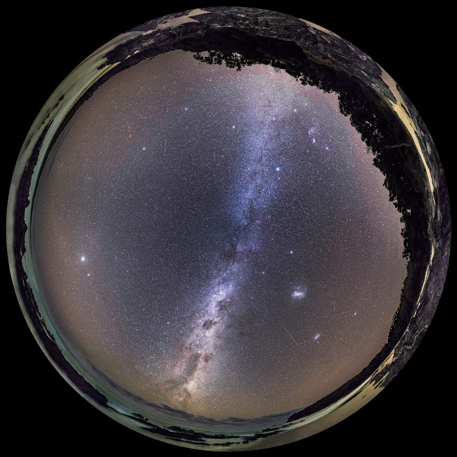 ADY200492S © Stocktrek Images, Inc. A 360 degree fish-eye panorama of the southern autumn sky, Australia.