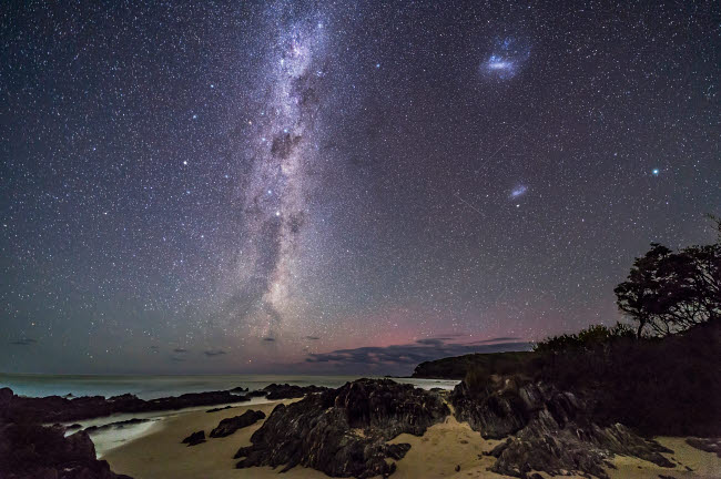 ADY200497S © Stocktrek Images, Inc. Southern stars rising at Cape Conran on the Gippsland Coast of Australia.
