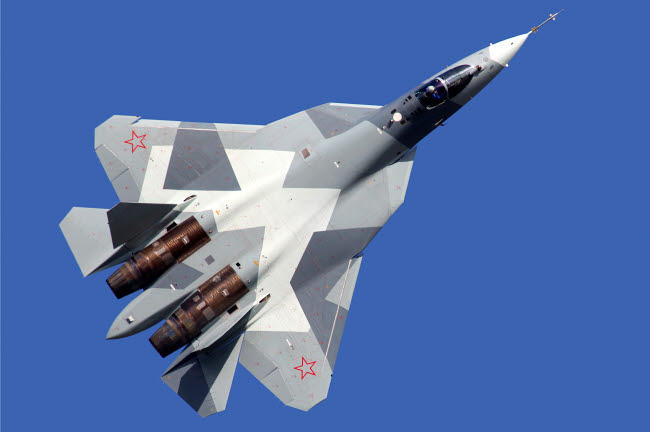 ANK100026M © Stocktrek Images, Inc. T-50 PAK-FA 051 BLUE fifth generation jet fighter of the Russian Air Force.