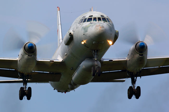 ANK100028M © Stocktrek Images, Inc. IL-20M reconnaissance aircraft of the Russian Air Force landing.