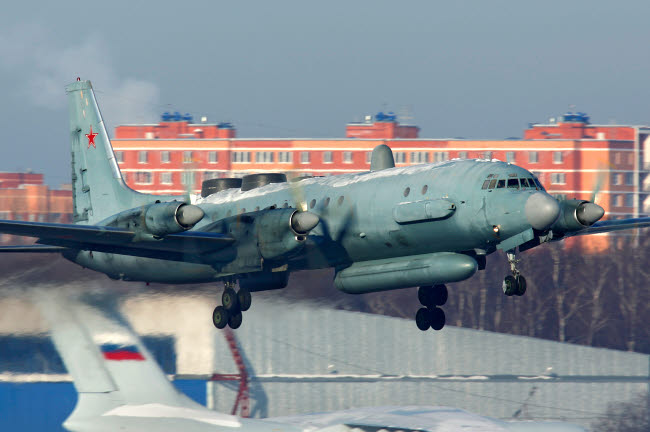 ANK100030M © Stocktrek Images, Inc. IL-20M reconnaissance aircraft of the Russian Air Force taking off from Russia.