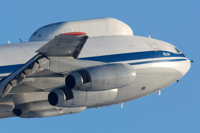 ANK100031M © Stocktrek Images, Inc. IL-80 flying command post of the Russian Air Force taking off, Russia.