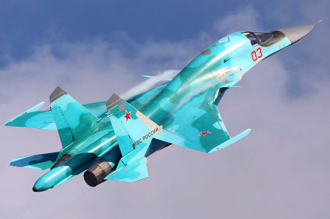 ANK100042M © Stocktrek Images, Inc. Su-34 attack aircraft of the Russian Air Force.