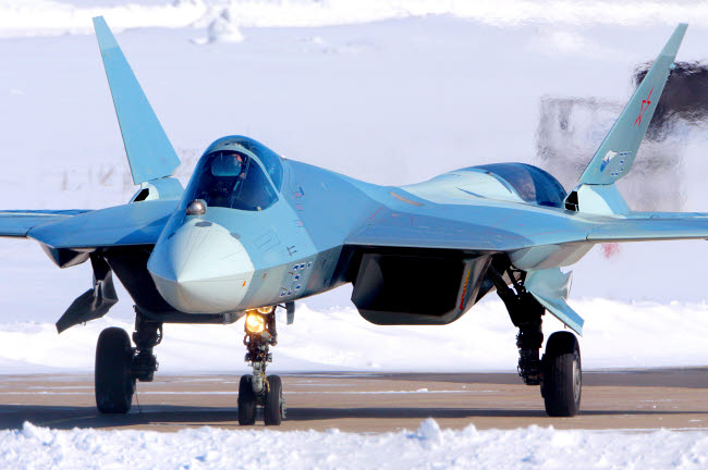 ANK100052M © Stocktrek Images, Inc. T-50 PAK-FA fifth generation jet fighter of the Russian Air Force
