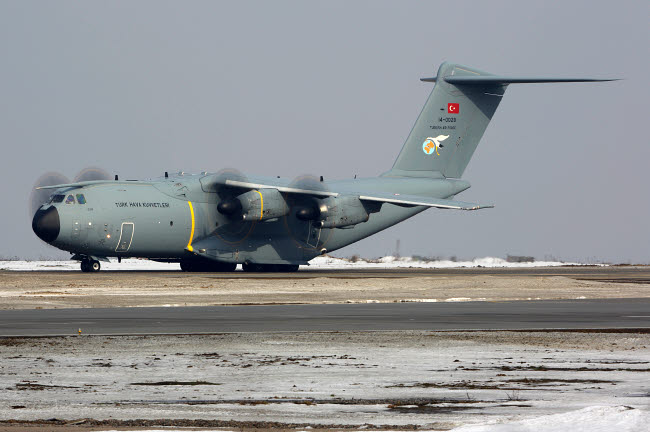 ANK100351M © Stocktrek Images, Inc. Airbus A400M transport airplane of Turkish Air Force.