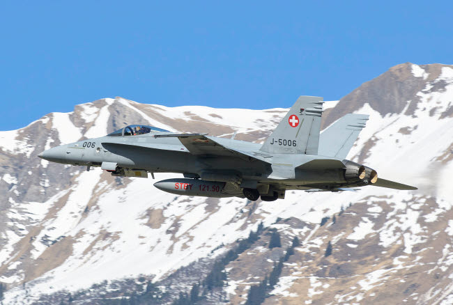 GCA100735M © Stocktrek Images, Inc. F/A-18 from the Swiss Air Force.