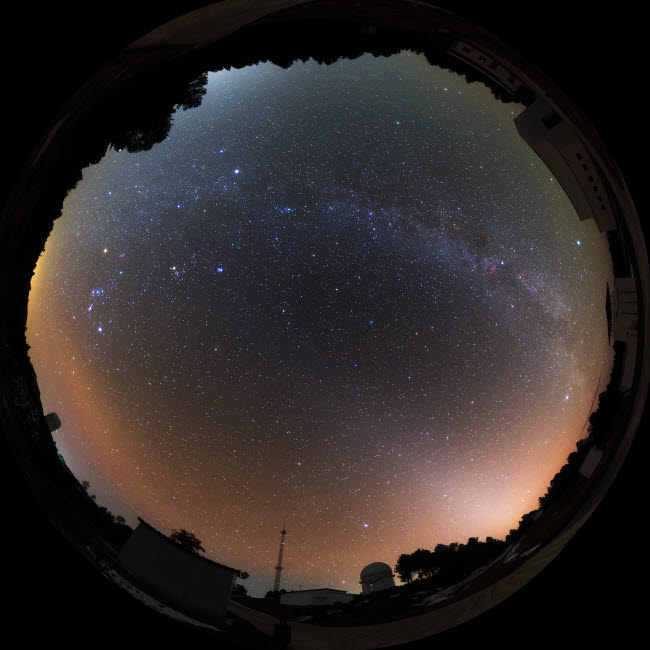 JFD200025S © Stocktrek Images, Inc. An all sky view of Yunnan Astronomical Observatory in China.