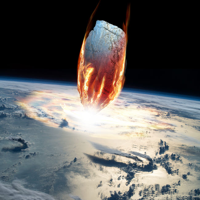 MRC200201S © Stocktrek Images, Inc. A massive asteroid enters Earth's atmosphere and impacts the planet.
