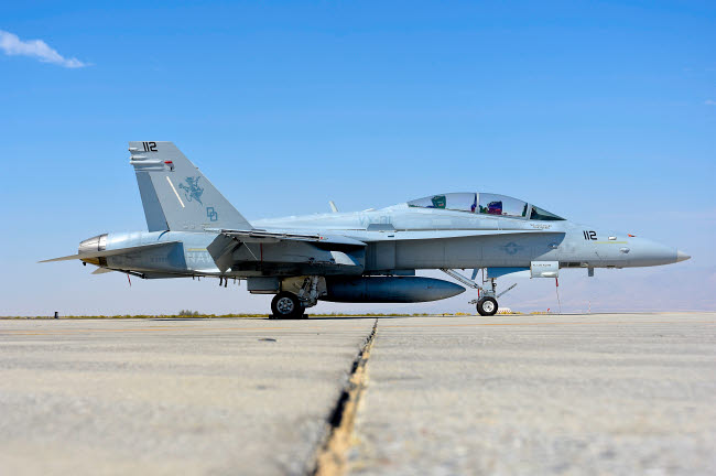 RCN100430M © Stocktrek Images, Inc. U.S. Navy F/A-18D Hornet at Naval Air Weapons Station China Lake, California.
