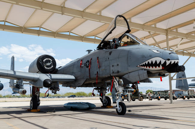 RDG100232M © Stocktrek Images, Inc. A U.S. Air Force A-10 Thunderbolt II on the ramp at Davis Monthan Air Force Base.