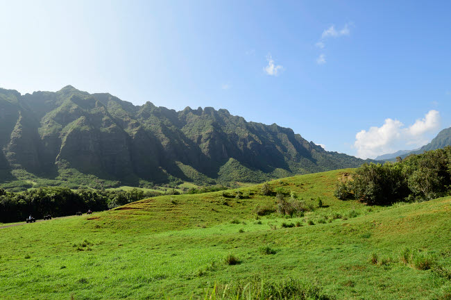 RYN100024T © Stocktrek Images, Inc. The Ko'olau Range in Oahu, Hawaii.