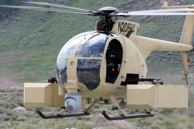 STK108931M © Stocktrek Images, Inc. Unmanned Little Bird helicopter.
