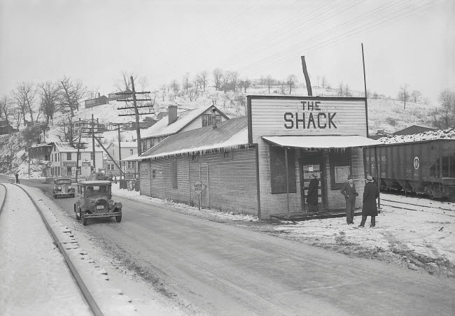 STK500158A © Stocktrek Images, Inc. The Shack Community Center, Scotts Run, West Virginia, 1936.