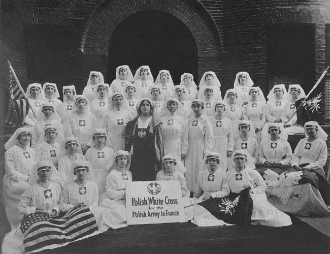 STK500271A © Stocktrek Images, Inc. Group of nurses from the Polish White Cross.