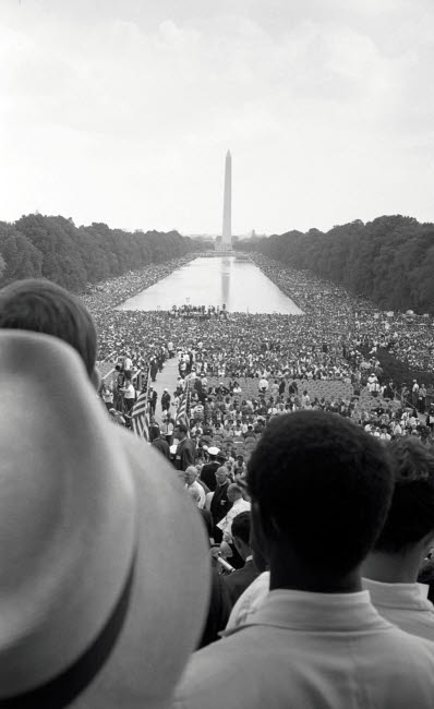 STK501147A © Stocktrek Images, Inc. Crowd of African Americans and whites in Washington DC, 1963.