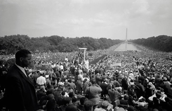 STK501164A © Stocktrek Images, Inc. August 28, 1963 - A huge crowd at the National Mall in Washington, D.C.