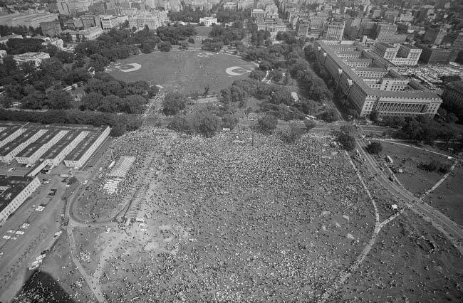 STK501178A © Stocktrek Images, Inc. August 28, 1963 - Aerial view, of the March on Washington in Washington, D.C.