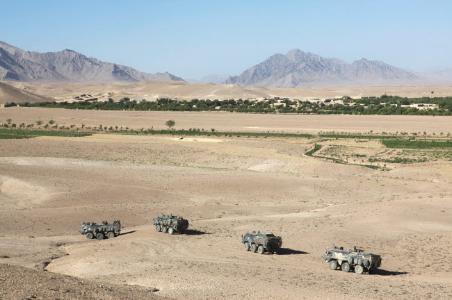 VWP100121M © Stocktrek Images, Inc. Dutch Army vehicles in Afghanistan.
