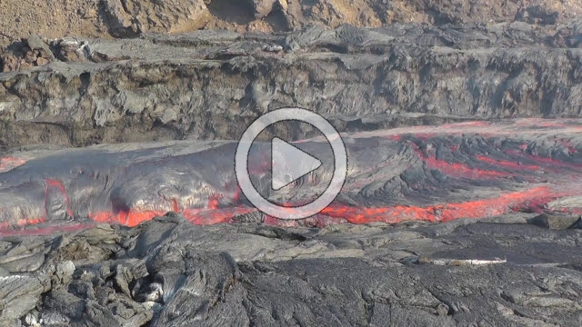 RRS800045F © Stocktrek Images, Inc. Time lapse of lava flows coming from Pico do Fogo volcano, Fogo, Cape Verde.