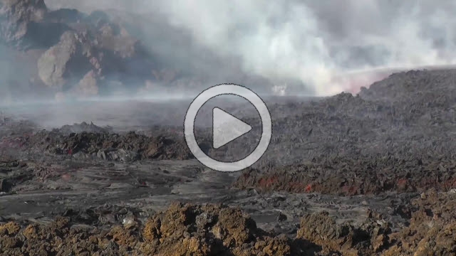 RRS800046F © Stocktrek Images, Inc. Time lapse of lava flows coming from Pico do Fogo volcano, Fogo, Cape Verde.