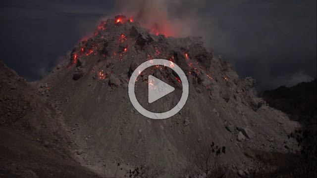 RRS800067F © Stocktrek Images, Inc. Time lapse footage showing nighttime eruption of Paluweh volcano, Indonesia.