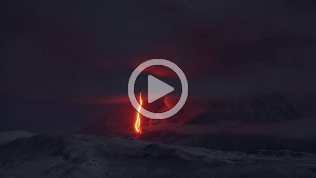 RRS800068F © Stocktrek Images, Inc. Time lapse footage showing eurption of Kliuchevskoi volcano, Russia.